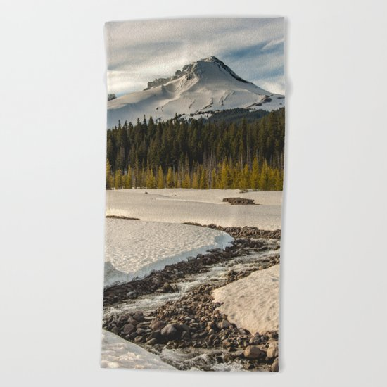 Marvelous Mount Hood at sunset Beach Towel