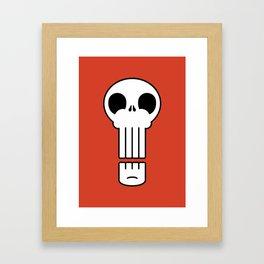 Long Skull Framed Art Print