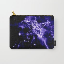 Violet Purple Galaxy Nebula Space Carry-All Pouch