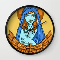 mother Wall Clocks featuring mother by ODDITY