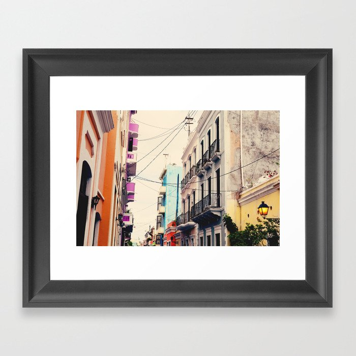 Colorful Buildings Of Old San Juan Puerto Rico Framed Art