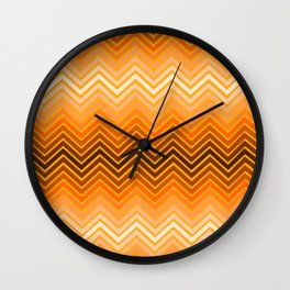 Orange chevron Wall Clock