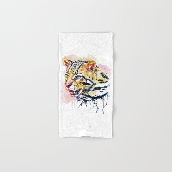 Ocelot Head Hand & Bath Towel