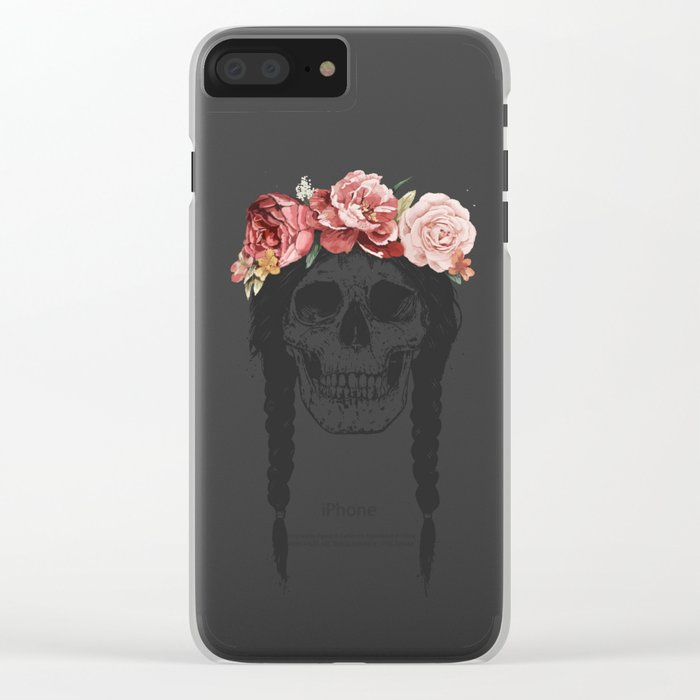 Festival skull Clear iPhone Case