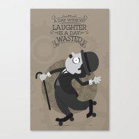 chaplin Canvas Prints featuring Chaplin by GARABATOS