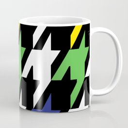 Jumbo Scale Masculine Colored Houndstooth Pattern Coffee Mug
