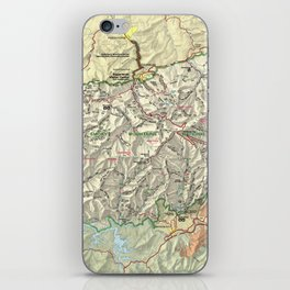 The Great Smoky Mountains National Park Map (1997) iPhone Skin