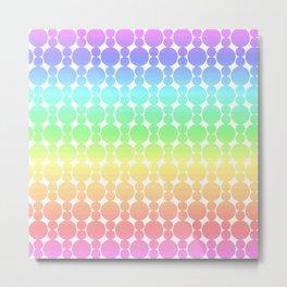 Rainbow-colored Circle Pattern Metal Print