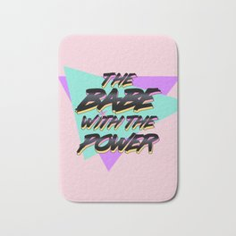 Babe With The Power - Black Bath Mat