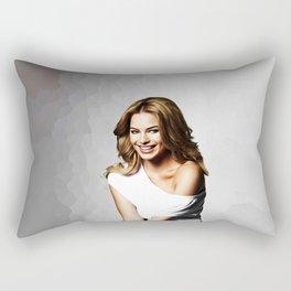 Margot Robbie - Celebrity Art (Beautiful Smile) Rectangular Pillow