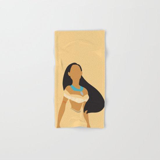 Pocahontas - Minimalist Hand & Bath Towel