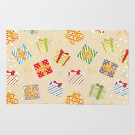 Christmas gifts pattern 9 Rug