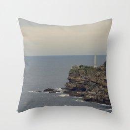Crumbled Coast Throw Pillow