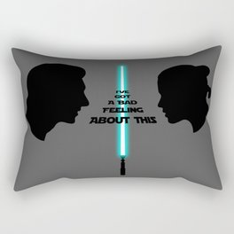 I've got a bad feeling about this Rey and Kylo Rectangular Pillow