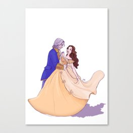 Rumbelle - Tale as Old as Time Canvas Print