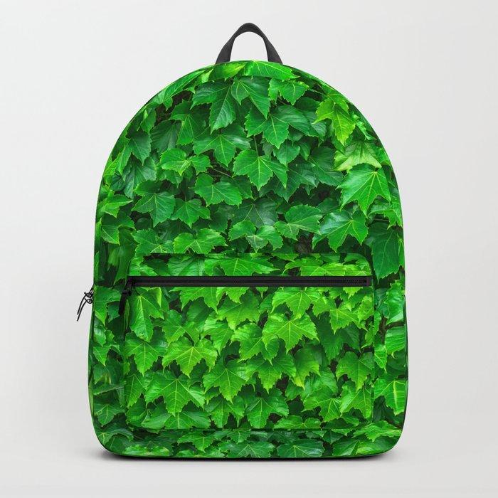Deep Green Ivy Wall. Backpack