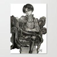 levi Canvas Prints featuring Levi Ackerman by OtakuRuki