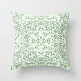 Green Snowflake Throw Pillow