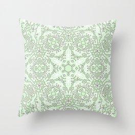 Green Snowflake Throw Pillow
