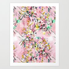 FLORAL ARROW Art Print