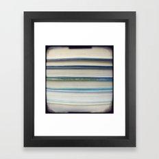 Book stripes - blue Framed Art Print
