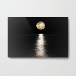 Moon Sea Full Light Metal Print