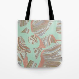 Abstract Marble and Mint 2 Tote Bag