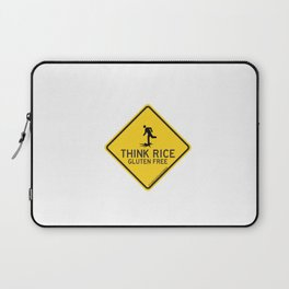 GLUTEN FREE Traffic Sign Laptop Sleeve