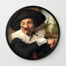 """Frans Hals """"Portrait of Isaac Abrahamsz"""" Wall Clock"""