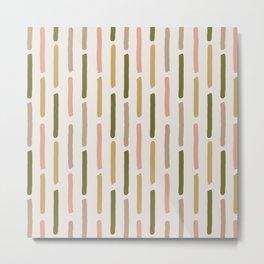 Vertical Paint Stripes (Camo) Metal Print