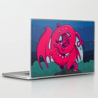 skyrim Laptop & iPad Skins featuring Last of the Dovah (Skyrim) by Andrea Meli