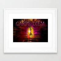 carpe diem Framed Art Prints featuring Carpe Diem by Walter Zettl