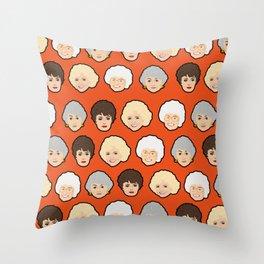 The Golden Girls Orange Pop Art Throw Pillow