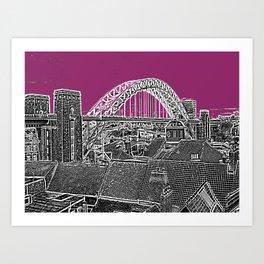 PURPLE SKY OVER THE CITY Art Print