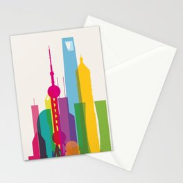Shapes of Shanghai. Accurate to scale Stationery Cards