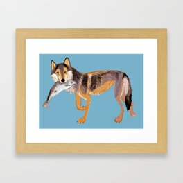 Totem Coastal wolf (Vancouver Wolf) Framed Art Print