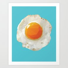Fried Egg Polygon Art Art Print