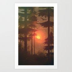 Hazy Art Print