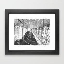 Milk Machine Framed Art Print