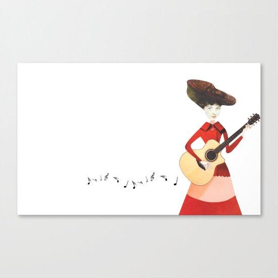 Musical love Canvas Print