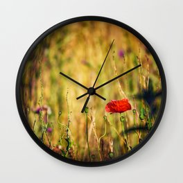 Wildflower Warriors Wall Clock