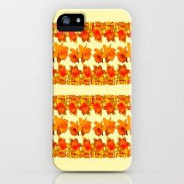 SPRING GOLDEN DAFFODILS MODERN ART DESIGN iPhone Case