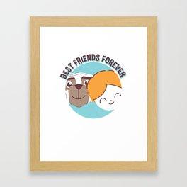 Best Friends Forever Kid and Dog Framed Art Print