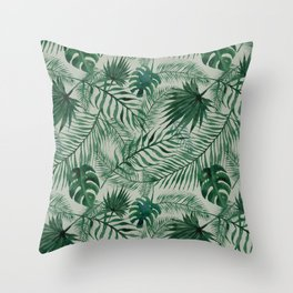 Jungle Leaves pattern Throw Pillow
