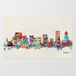 Portland Oregon skyline Rug