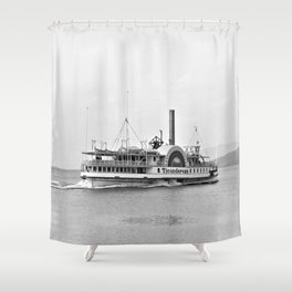 Ticonderoga Side Wheeler Steamboat Shower Curtain