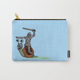 The snail and the Knight Carry-All Pouch