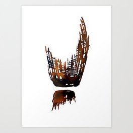 Brown ink Art Print
