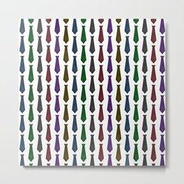 Tie Pattern Metal Print