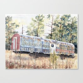 Brookhaven Train Sign Canvas Print
